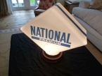 Original National premium glass globe c1955
