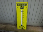 The rarest version of the Duckhams Oils enamel thermometers in mint condition 1950