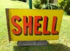 1920 Shell wall hung enamel sign SOLD