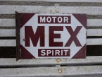 c1930 Mex Motor Spirit two sided wall bracket enamel