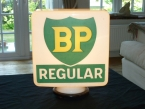 Original 1958 New Old Stock BP REGULAR glass pump globe by Hailware NOW SOLD