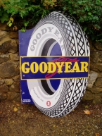 Goodyear Tyres pictorial enamel sign