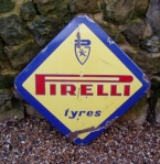 c1960 Pirelli Tyres Diamond enamel sign £175