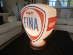 "One of the very last made. A "" new old stock "" Fina Super glass petrol pump globe by Hailware"