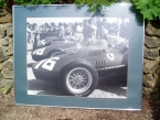 "Original large framed photograph on board 36""x30""1958 Italian GP Ferrari D246 in paddock £300"