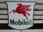 c1950 Mobiloil Shield enamel sign
