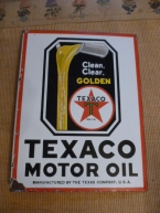 Rare Texaco Golden double sided bracket enamel c1955 in superb condition £2450