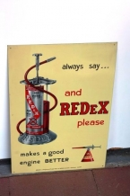 1950 Redex tin pictorial sign