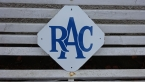 RAC diamond enamel sign c1950