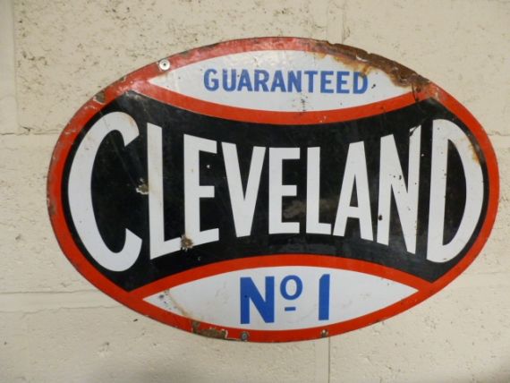 Rare c1930 early Cleveland oval enamel sign  £650