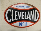 Rare c1930 early Cleveland oval enamel sign