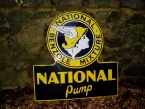 "National Benzole ""Pump"" enamel sign c1950 SOLD"