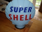 c1960 original glass Super Shell globe as new condition £875