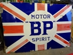 c1925 BP Motor Spirit Union Jack giant enamel sign 72 x 48
