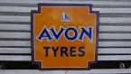 c1940 Avon Tyres enamel sign in pristine condition