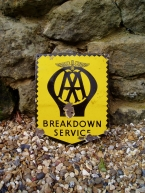 AA Breakdown Lorry enamel sheild c1950