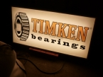 "1965 Timken Bearings hanging light box 36"" x 24""  £365"