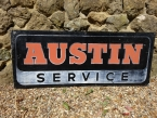 c1950 early aluminium lithograph Austin Service sign