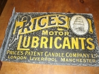Early 1905 Prices Oils Lithograph metal wall sign