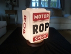 Dating from around 1935 an original ROP glass petrol pump globe by Hailwood and Ackroyd
