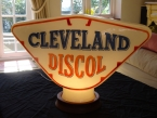 A late original Cleveland Discol glass pump globe dated Feb 63