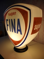 Fina Super glass petrol globe SOLD
