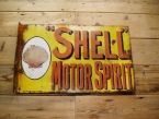 c1910 an early and rare bracket Shell enamel sign