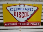 c1930 Cleveland Discol double sided enamel sign in superb condition