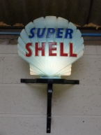 Original Super Shell Glass pump globe  £570